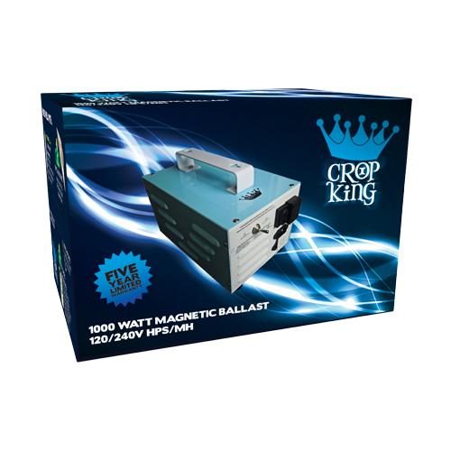 1000W Crop King Magnetic Ballast MH/HPS 120/240V