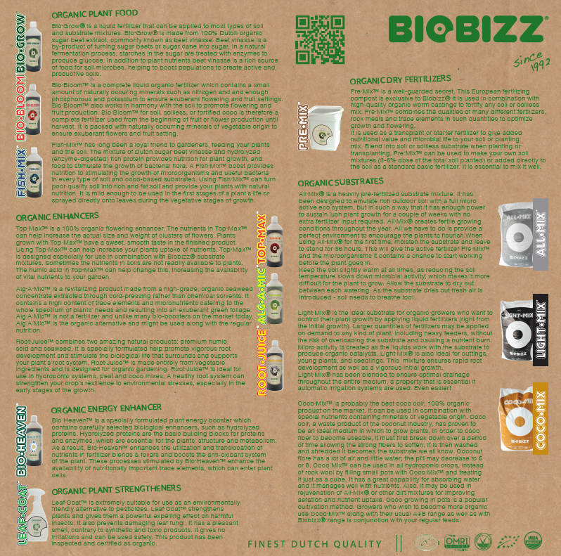 BioBizz Feeding Information